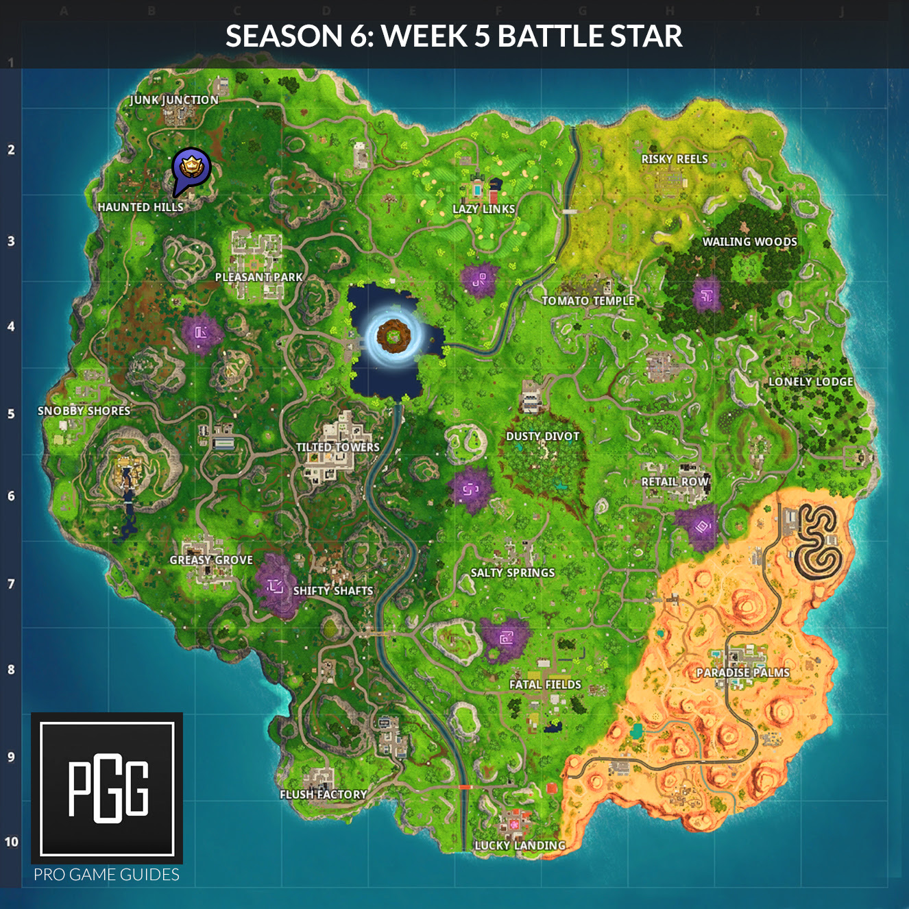 Fortnite Season 6 Hidden Secret Battle Stars Locations
