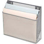 Mesh Hanging File Sorter with Keyholes Silver - Made By Design