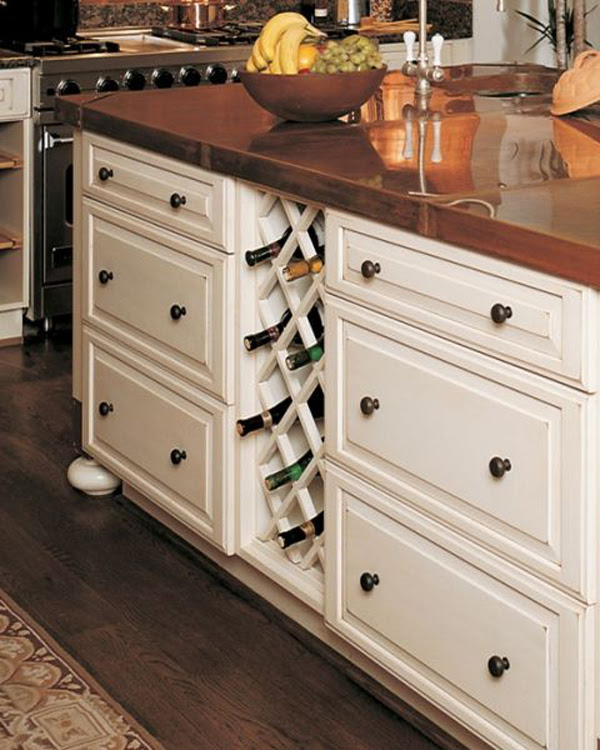 Diy Built In Wine Kitchen Rack Home Design And Interior