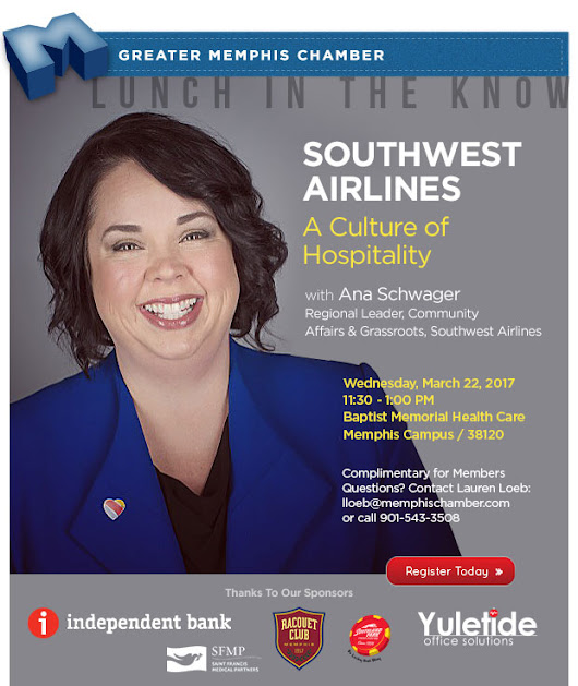 Lunch In The Know: Southwest Airlines, A Culture of Hospitality