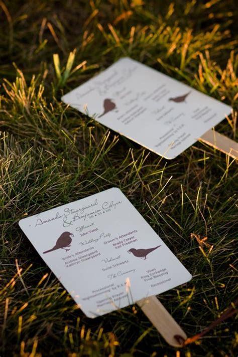 wedding ceremony program fan template