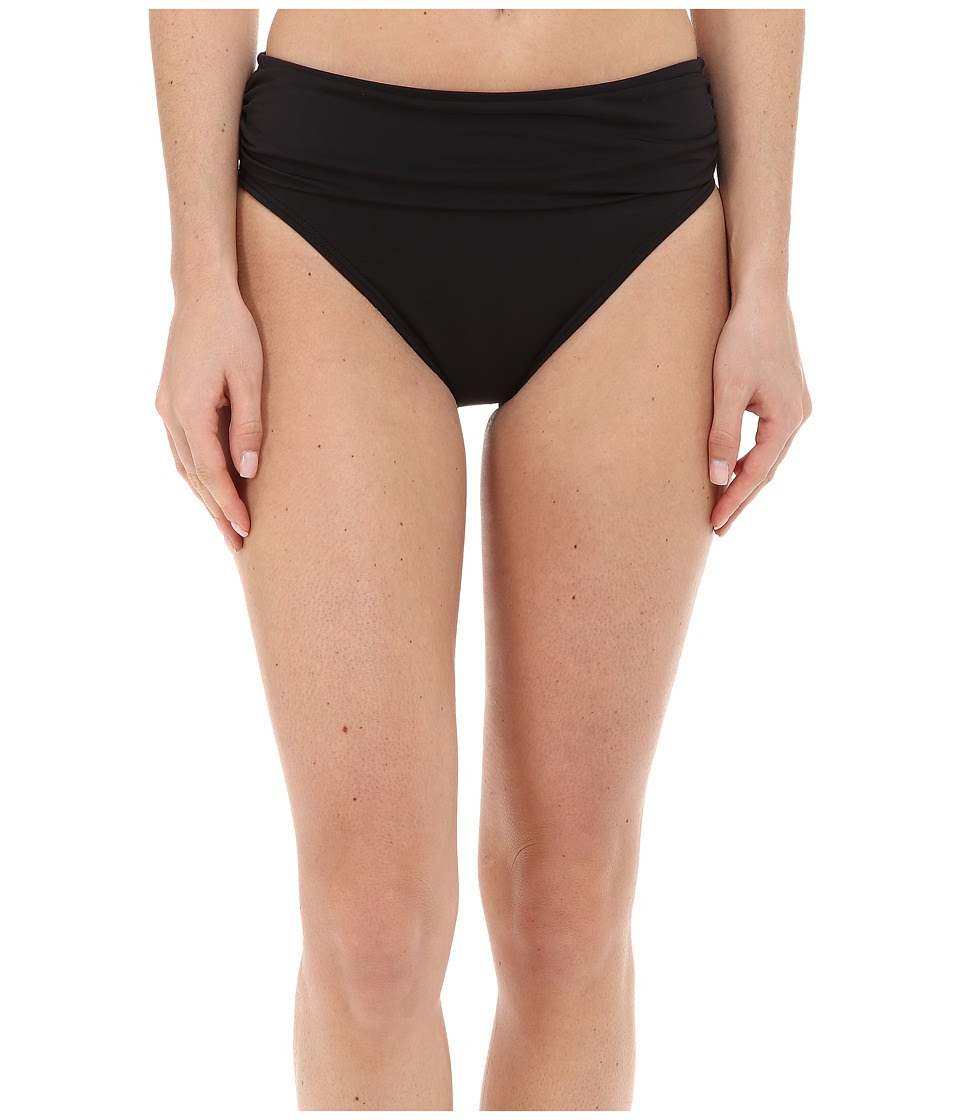 Tommy Bahama - Pearl Solids High Waist Sash Pants (Black) Women's Swimwear