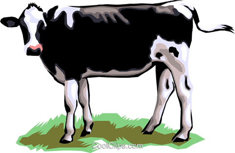 乳牛 ロイヤリティ無料ベクタークリップアートイラスト Anim1301