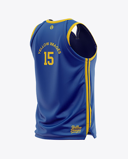 Download Free Men's Basketball Jersey Mockup - Back Half Side View ...