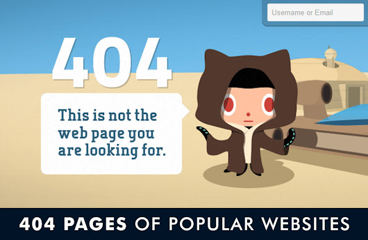 Error 404 Pages Of Popular Websites | Antara's Diary