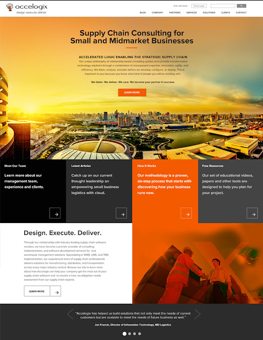 High-end Business Website Design Princeton + New York: Logistics Business Web Design | Momentum 18 Branding