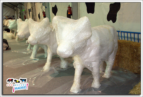 preparando la cow parade