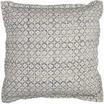 Rizzy Home Solid Geometric Decorative Pillow, Blue