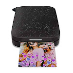 HP Sprocket Portable Photo Printer (2nd Edition) - Instantly Print 2x3 Sticky-Backed Photos from Your Phone - [Black Noir] [1AS86A], Small (1AS86A#B1H