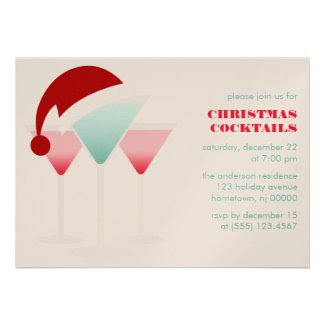 Christmas Cocktails Custom Invites