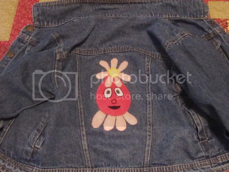 foofa back patch yo gabba gabba jacket