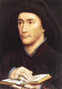 Man holding book - Rogier van der Weyden