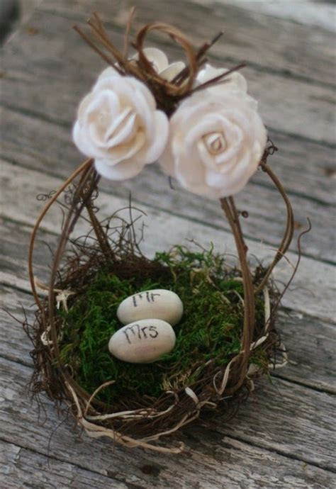 MHD Wholesale: Wedding Cake Topper Birds Nest Flower Girl
