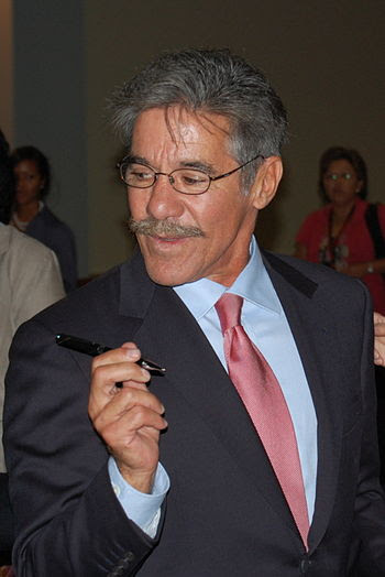 English: Geraldo Rivera after delivering the k...