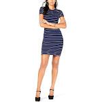 Michael Kors | Scalloped-Stripe Sweater Dress | Blue