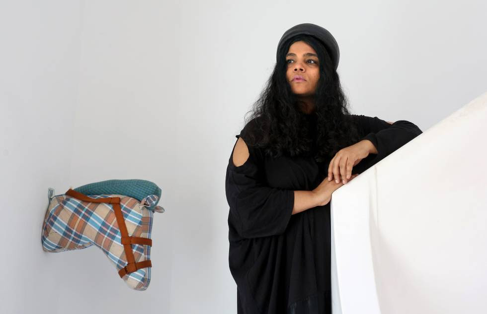 Kavita Parmar en su estudio en Madrid.