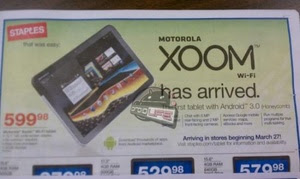 Wi-Fi-only Xoom coming on March 27th?