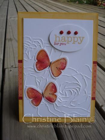 Saffron, Haiku butterfly card