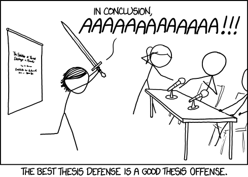 xkcd: Thesis Defense