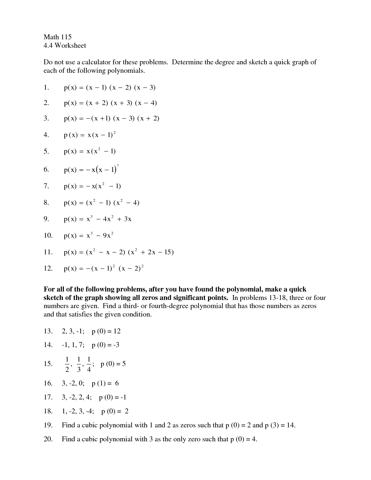 12 Best Images of Multiplying Polynomials Worksheet Answer Key  Multiplying Polynomials