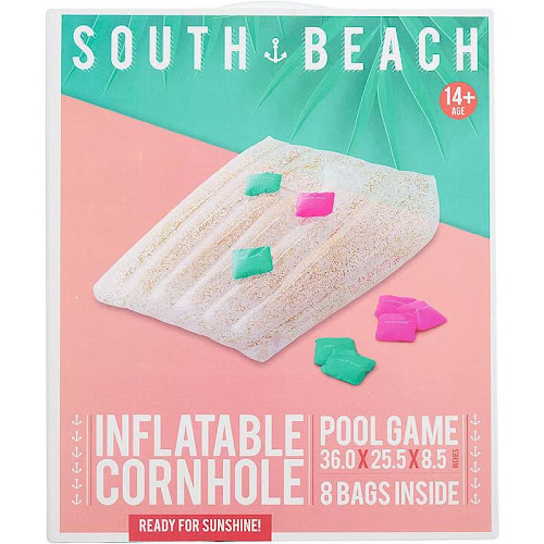 South Beach Glitter Inflatable Cornhole Pool Float Game