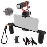 Movo PR-2 VLOGGER Smartphone Video Rig with Shotgun Mic