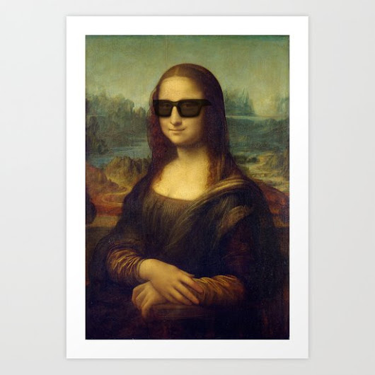 Hipster Mona Lisa in her Hipster Shades Art Print by Paul Stickland For StrangeStore | Society6