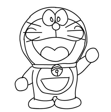 contoh gambar sketsa doraemon terlengkap