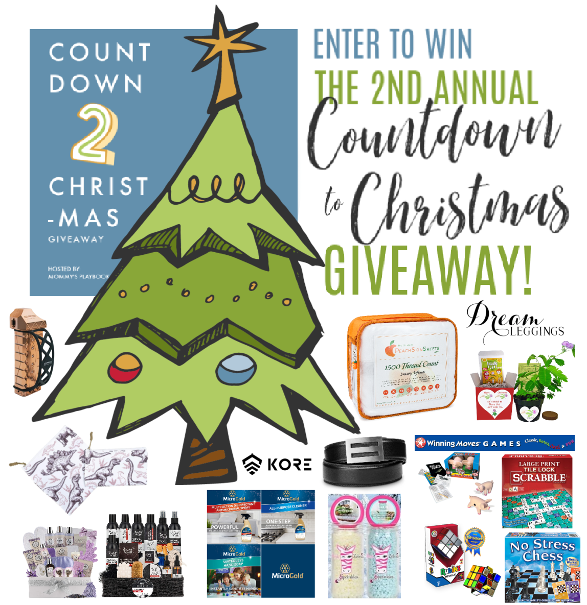 Countdown to Christmas Giveaway Prizes