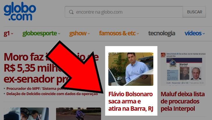 Flavio Bolsonaro no G1