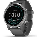 Garmin vivoactive 4 GPS Smartwatch (Silver with Shadow Gray Band)