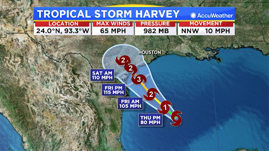 Tropical Storm Harvey expected to make landfall as Category 3 hurricane |