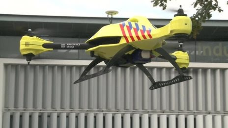 BBC News - 'Ambulance drone' takes to the skies of Belgium