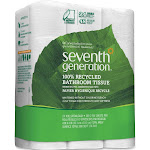 Seventh Generation Bathroom Tissue, 100% Recycled, Double Rolls, 2-Ply - 24 rolls