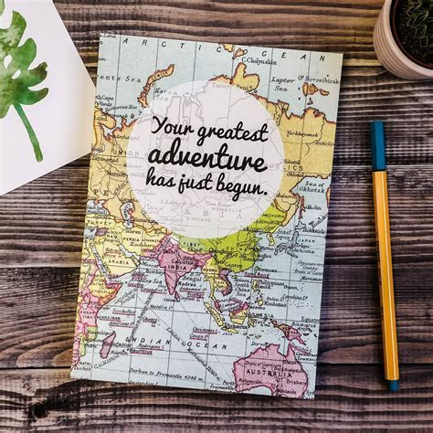 'greatest adventure' wedding planner journal by bookishly