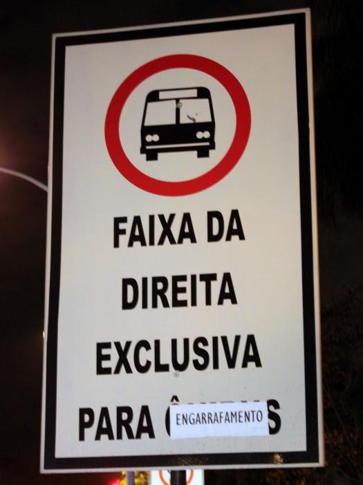 Moradores de Brasília protestam contra faixa exclusiva na W3 Sul