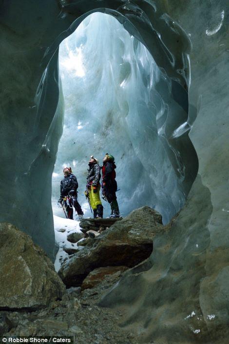 Ice caves in Gorner Glacier