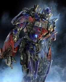 A battle-scarred Optimus Prime in TRANSFORMERS: REVENGE OF THE FALLEN.