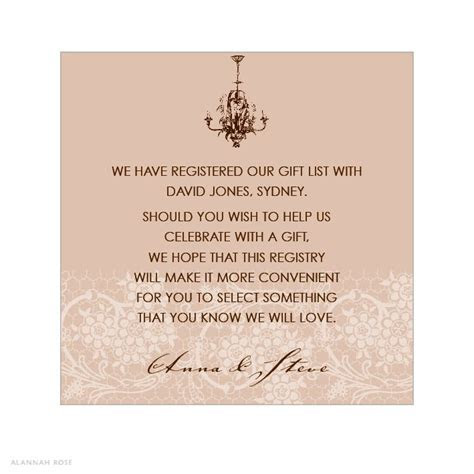 COUNTRY Invitation wording samples   Chantilly Chandelier