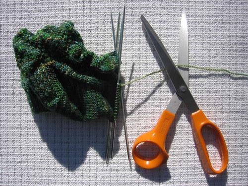 Sock and scissors