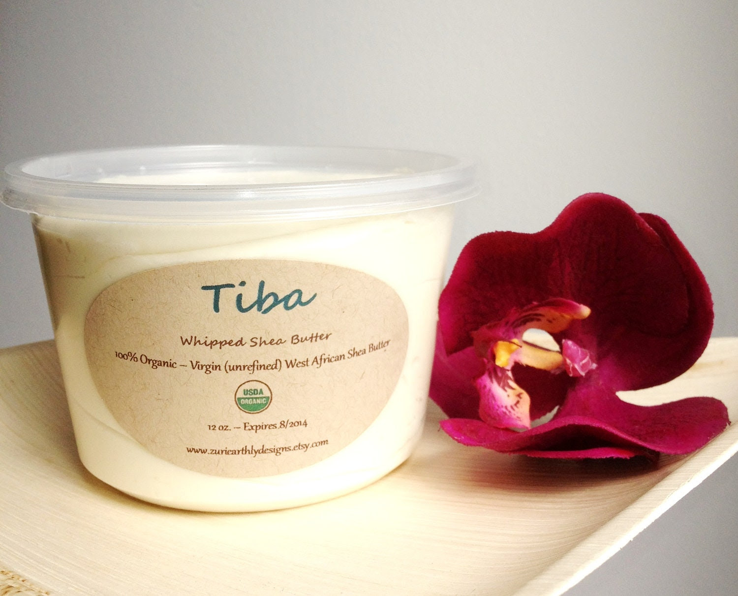 UNSCENTED - 100% Organic Unrefined Whipped Shea Butter - 12 oz.