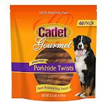 "Cadet 6"" Porkhide Twists for Dogs, 40-count, 2-pack"