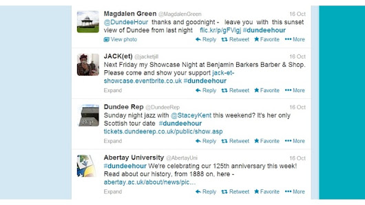 How do you bring a whole city together on Twitter? #DundeeHour