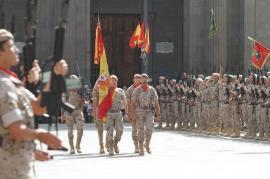 Entrada de la Bandera Nacional al acto