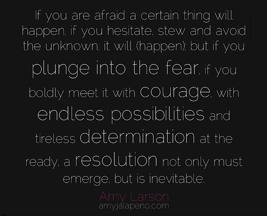 what are you afraid of? + how not to be (hot! quote)