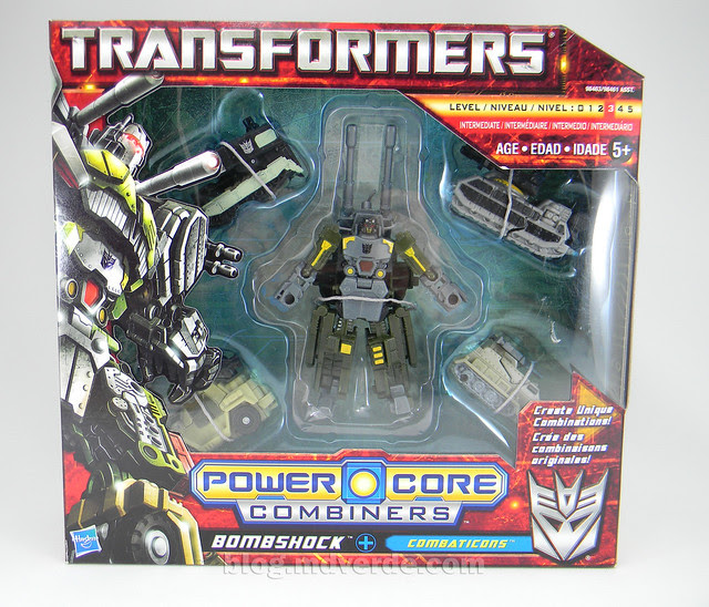 Transformers Bombshock con Combaticons Power Core Combiners - caja