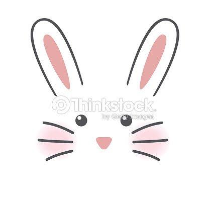 Cute Rabbit Face Stock Vector Thinkstock