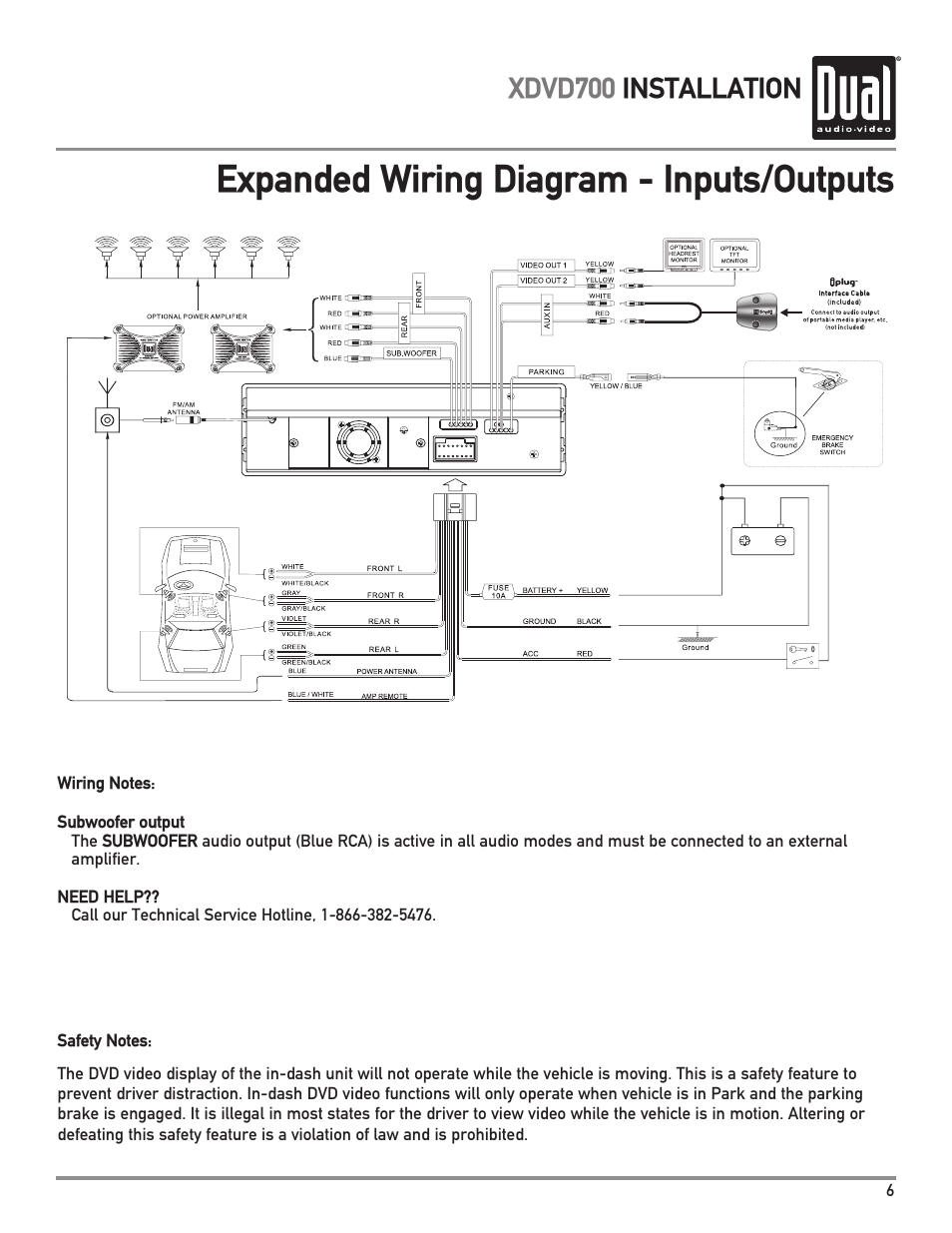 Subwoofer Wiring Harness Diagram