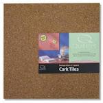 """Natural Cork Tile 12"""" X 12"""" X 3/16"""""""