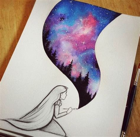 rapunzel watercolor painting cool drawingpainting ideas